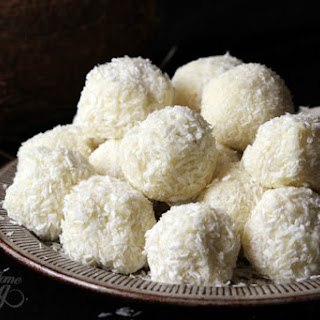 White Chocolate and Coconut Truffles.