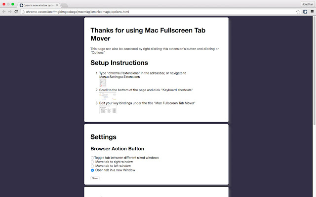 Mac Fullscreen Tab Mover