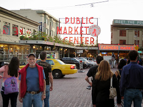 Photo: Dad at Pike's Market in Seattle.