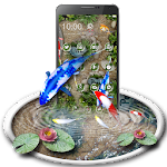 Free Koi Fish 3D Theme With Animation Icon
