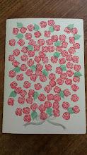 Photo: 二つ折りカード 4 (花束)〈表〉