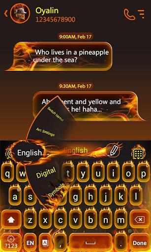 Fire GO Keyboard Theme Emoji