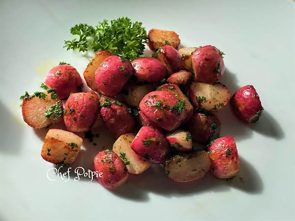 Sweet & Tangy Sauteed Radishes