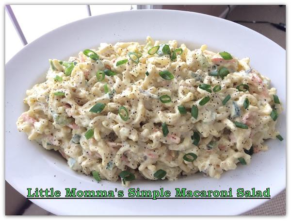 Little Momma's Simple Macaroni Salad Recipe