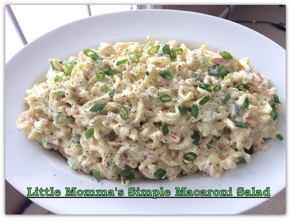 Little Momma's Simple Macaroni Salad Recipe