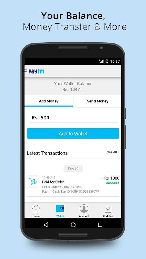Recharge, Shop and Wallet - screenshot