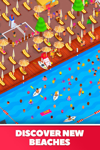Idle Beach Tycoon : Cash Manager Simulator apktram screenshots 3