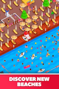 Idle Beach Tycoon Mod Apk (Unlimited Crystals) 1.0.15 3