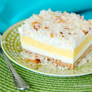 Coconut Cream Cheesecake Bars