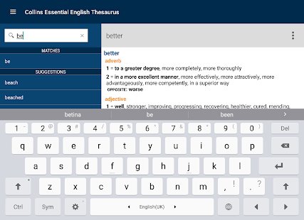 Collins Essential Thesaurus- screenshot thumbnail