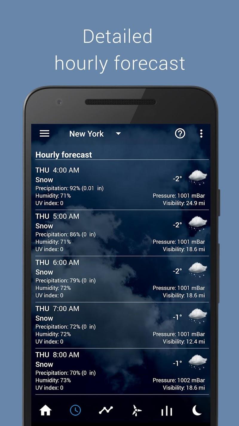 Transparent clock weather Pro Screenshot 2