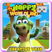 HAPPY WORLD LAND VR CARDBOARD Virtual Reality App