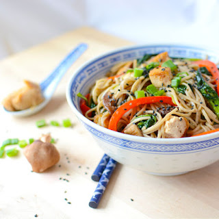 Shiitake Miso Soba Noodles.