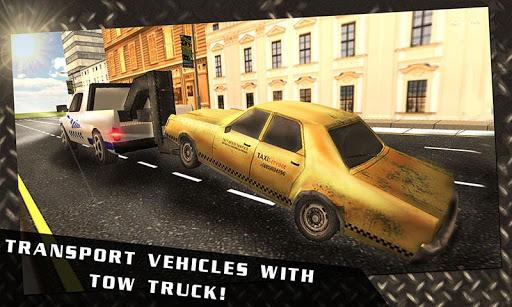 City Car Tow Transport Truck