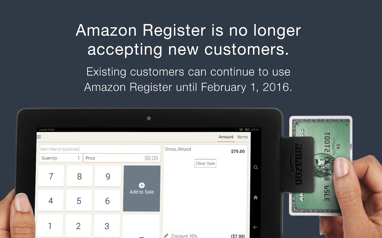 Amazon Register- screenshot