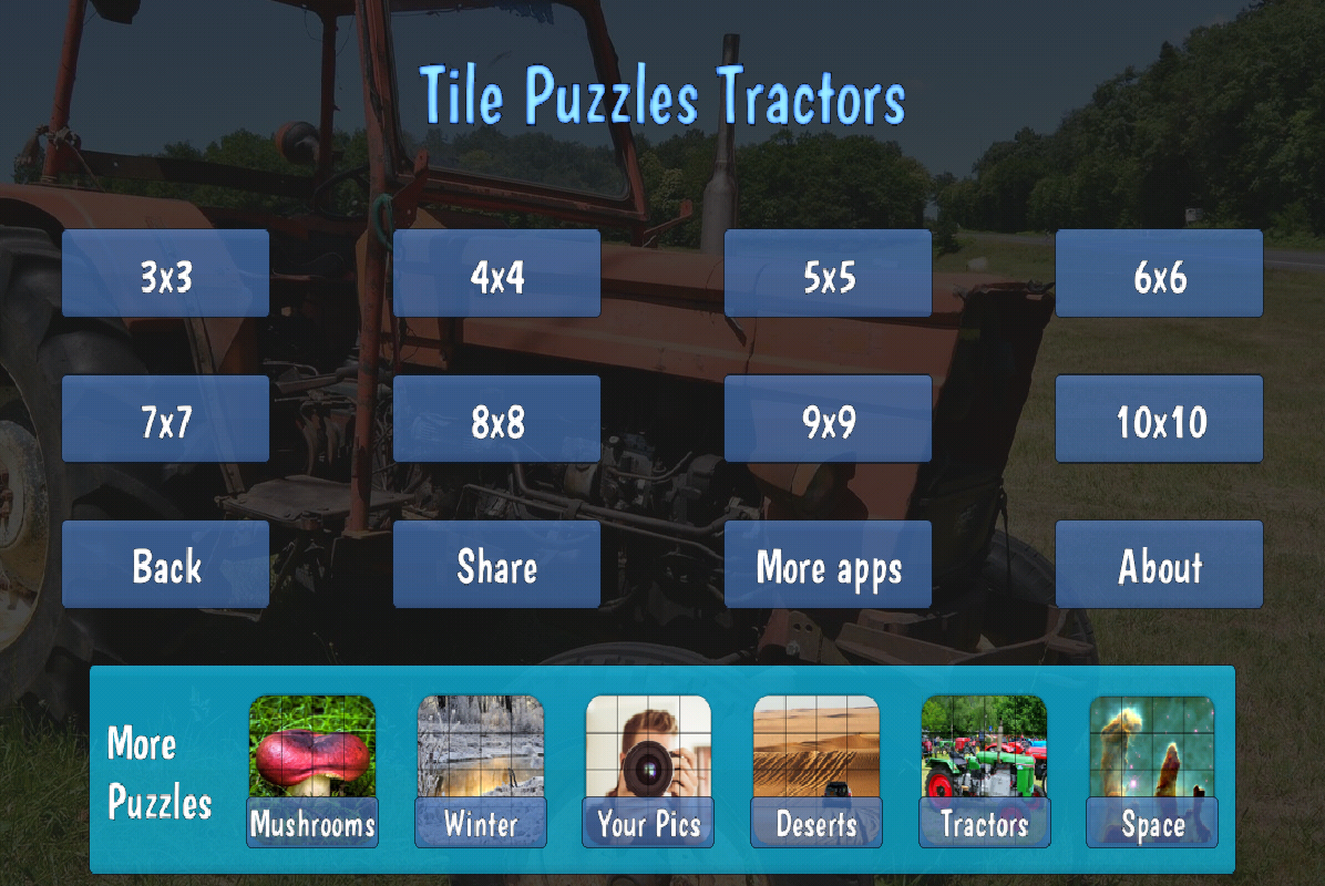 Tile Puzzles · Tractors- screenshot