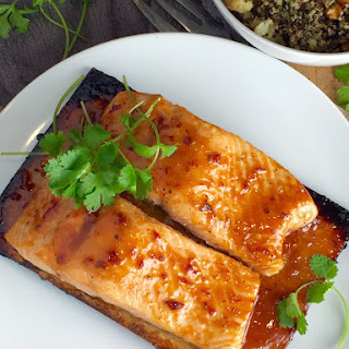 Cedar Plank Salmon with Chipotle Maple Glaze