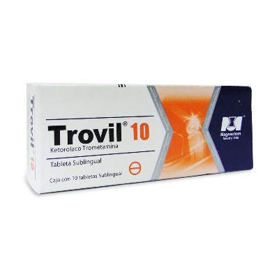 Ketorolaco Trometamina Trovil 10mg 10 Tabletas Sublingual