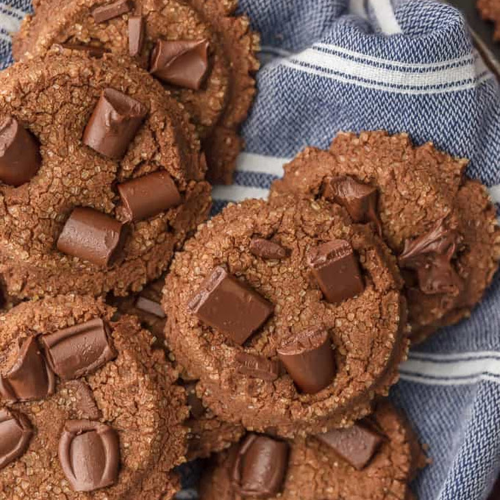 Fluffy Double Chocolate Sugar Cookies