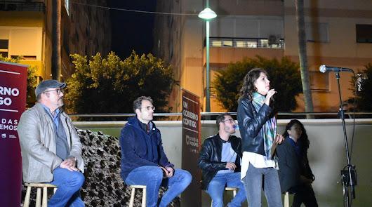 Mitin anoche de Unidas Podemos en la capital almeriense.