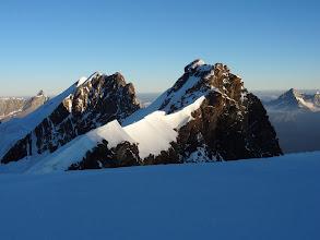 Photo: vue matinale de la chaine des Breithorns