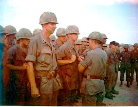 Photo: Awards ceremony on LZ Jane post Peanuts.  Mike Maynard receiving Silver Star.