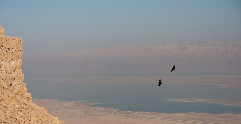 Photo: The Dead Sea - a view from Masada, Israel