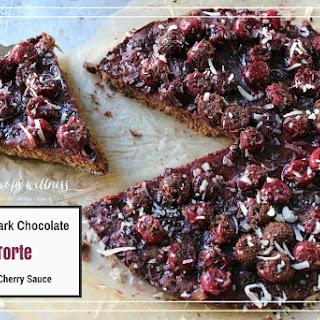Paleo Dark Chocolate Torte With Cherry Sauce