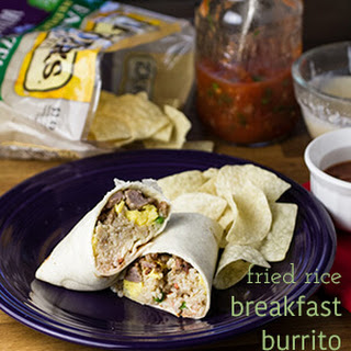 Easy Breakfast Burritos with Fried Rice