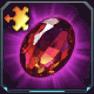 緋色の宝石のカケラ