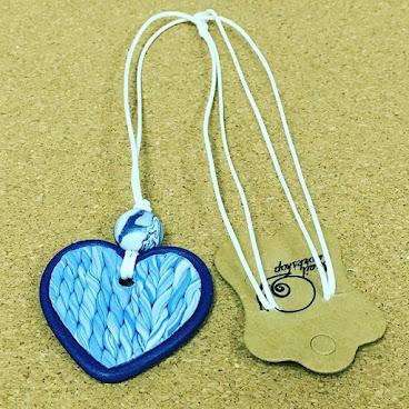 Handmade heart shape necklace