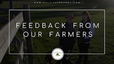 Feedback from our farmers