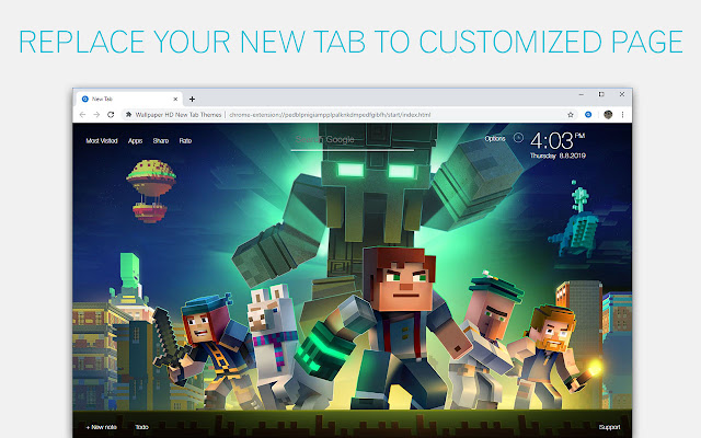 Minecraft Backgrounds New Tab Freeaddon Com