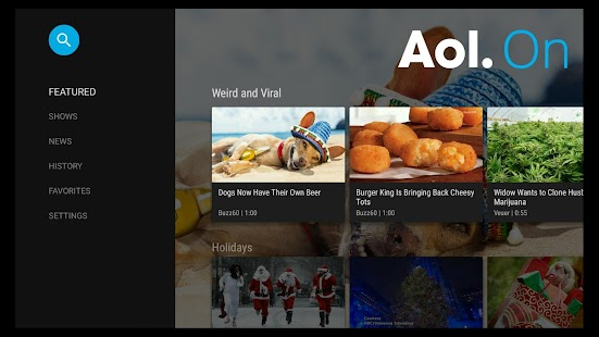 AOL Video for Android TV- screenshot thumbnail