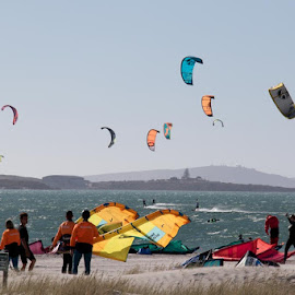 Action in the Wind. by Lanie Badenhorst - Sports & Fitness Surfing ( #action, #sport, #windsurfing, #people, #wind )