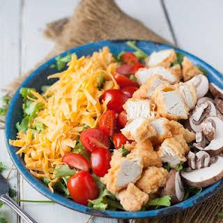Crispy Chicken Tender Salad.
