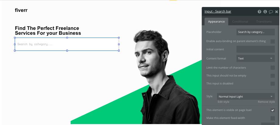Build Fiverr Freelancer marketplace clone with no code bubble platform