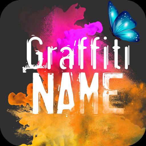 Smoke Graffiti Name Art Maker Icon