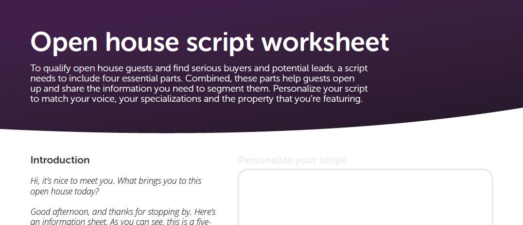 Free open house script