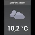 Lillängshamnen väderwidget