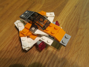 Photo: Pythagorean spaceship.  The 6x1 white pieces are places as hypotenii of 3-4-5 right triangles.  I've never seen this in a Lego-designed kit, but it's a legit connection.