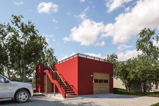 projekt G352 - Budynek garażowo-gospodarczy