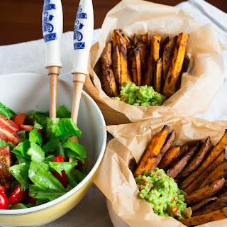 Sweet Potato Fries with Guacamole