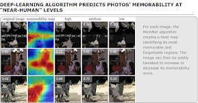 "Deep-learning algorithm predicts photos' memorability at ""near-human"" levels 