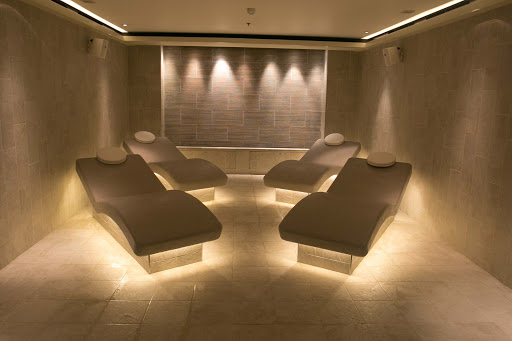 Viking-Sun-spa-chairs.jpg - Get away from it all in the LivNordic spa on Viking Sun, open to all guests.