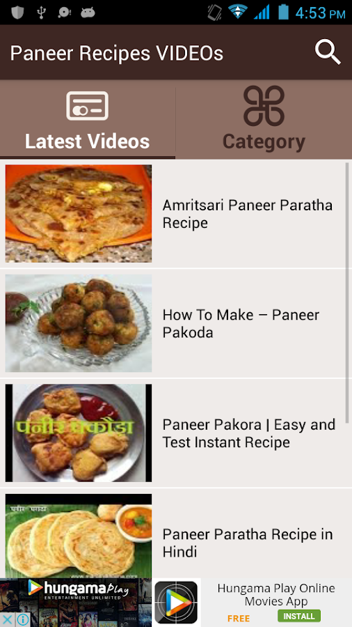 Paneer recipes videos android apps on google play paneer recipes videos screenshot forumfinder Images