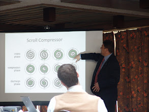 Photo: Joel Primeau talking compressors