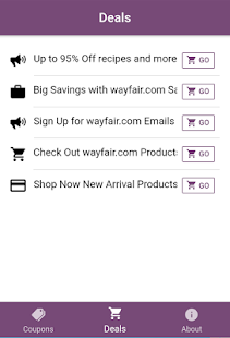 Free Coupons & Deals for Wayfair - náhled
