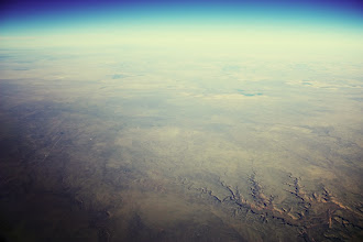 Photo: Took this flying from Vegas to Atlanta last November, somewhere east of the big ole canyon in AZ. It's a little scary that I had to remind myself I wasn't looking at a Bing Maps Bird's Eye View. I kept expecting that thing at the bottom right to have a big label on it. © 2011 Ryan Lynham