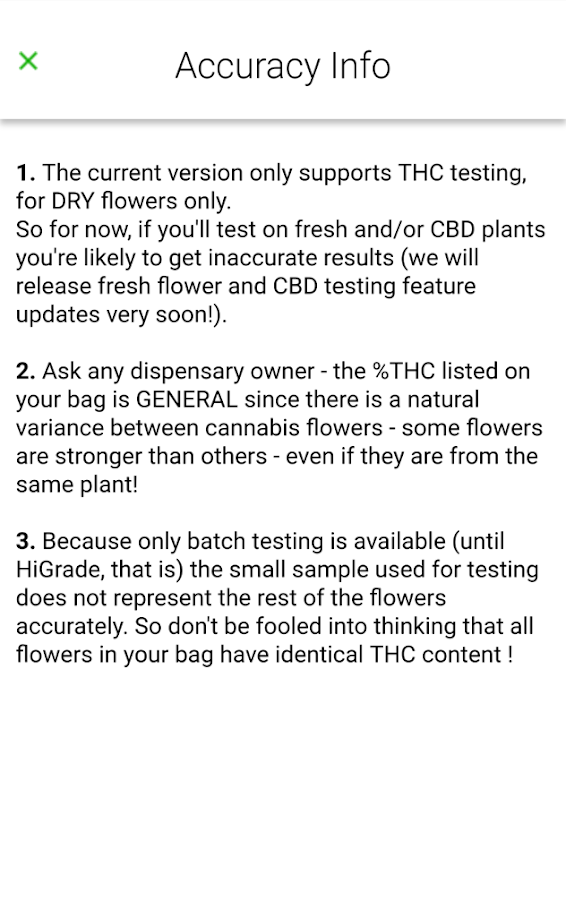 HiGrade - Cannabis Analytics- screenshot